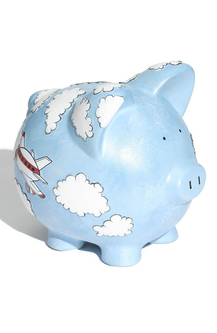 Main Image - Gift Giant 'Airplane - Large' Ceramic Piggy Bank