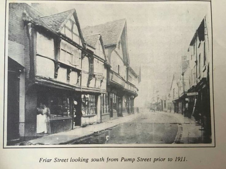 Old Worcester UK - Friar Street looking south towards College Street