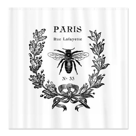 PARIS BEE Shower Curtain
