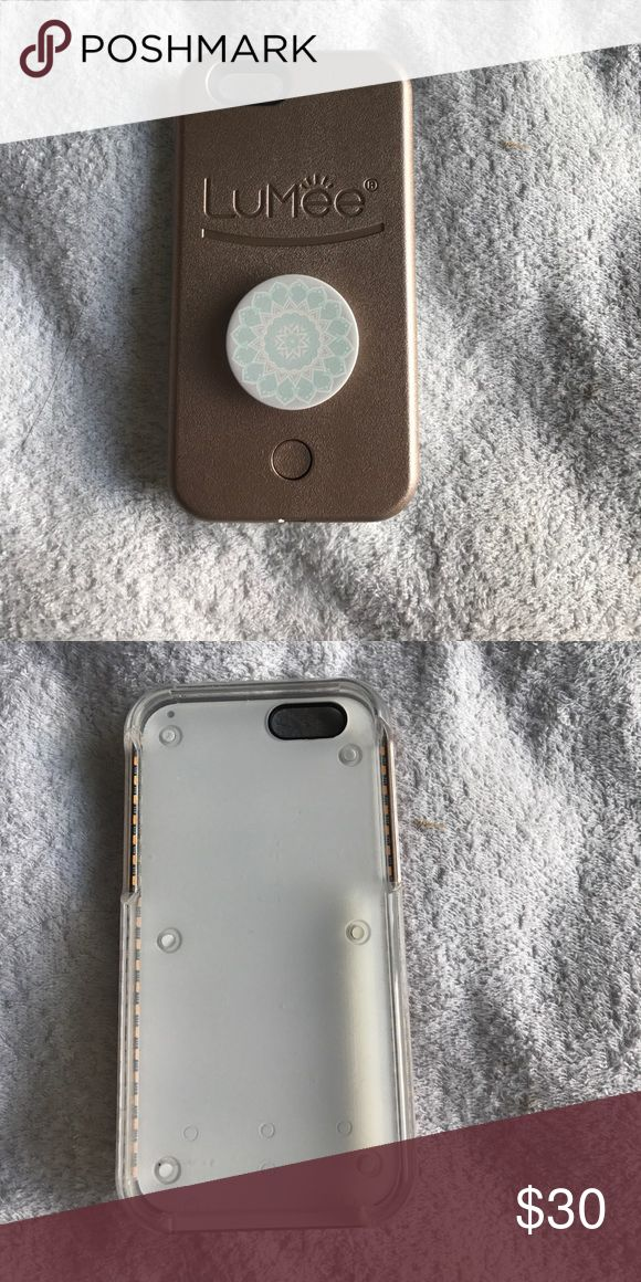 Lumee phone case for iPhone 6 Fully functioning! Popsocket included on the back Accessories