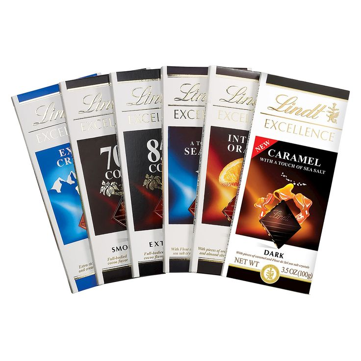 Lindt Excellence Assorted Bars 6 Ct