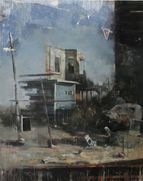 "Daniel Pitin - ""Desert House"", 2011, oil on canvas, 79 x 63 """