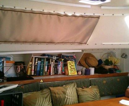Boat Curtains Using Snap Tape