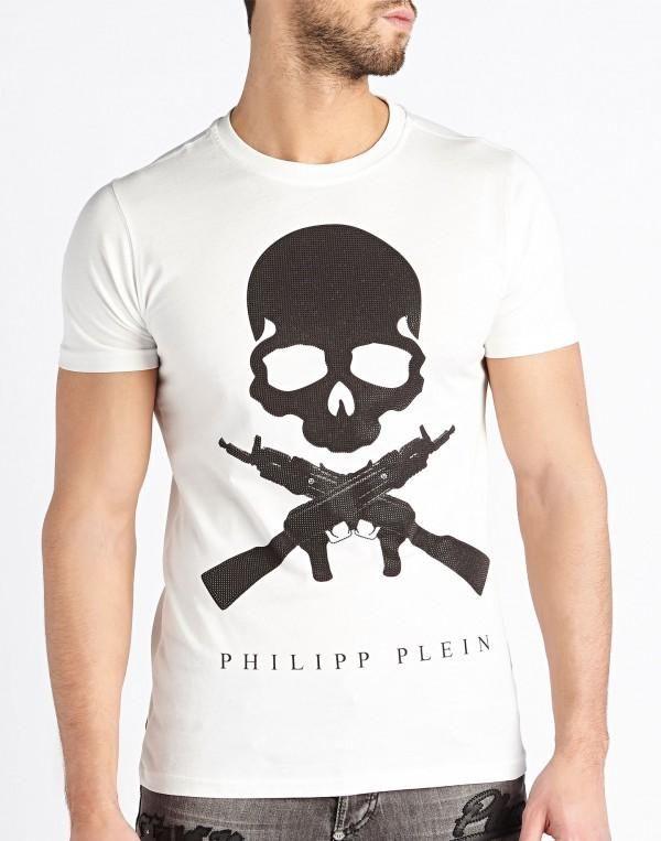 PHILIPP PLEIN T-SHIRT MEN SON OF A GUN HM341015