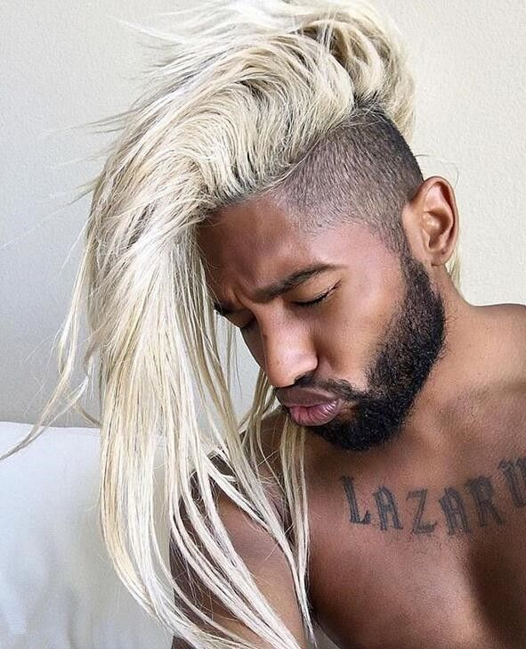 White Fore Switch Highlight Black Hair With Highlights Cool Hairstyles For Men Hair Highlights