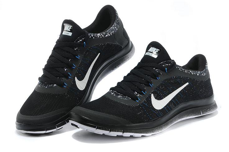 $49.99 Mens Nike Free 3.0 V6 Flyknit Black Wolf White