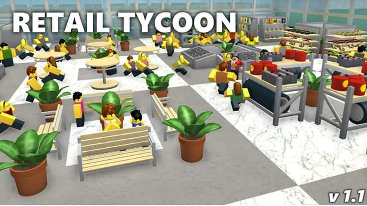 """Retail Tycoon. It's one of the millions of unique, user-generated 3D experiences created on Roblox. In Retail Tycoon, you take control of a small building and set out to create a massive retail store. Attract customers with pretty signs and separate them from their money with your own well-designed store layout.   Remaking this based off Dued1s """"Your Store Tycoon"""" (which was awesome, but broken by roblox updates)"""
