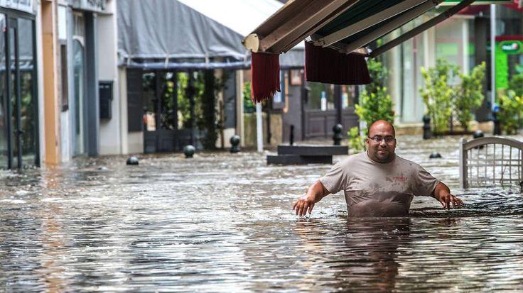 A Montargis, l'eau a envahi le centre-ville ce 2 Juin 2016