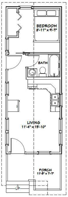 12x32 Tiny House -- #12X32H1C -- 384 sq ft - Excellent Floor Plans