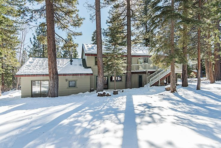 After a cross country skiing adventure, pull right up to your back door for some hot coco. Enjoy a beautiful view of the forest from the heated garage workshop (previously used as an in-home gym). #Tahoehome #heatedgarage #skiup