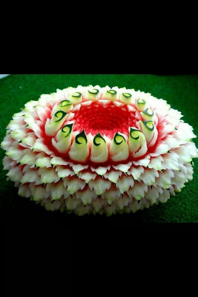 That's watermelon carving