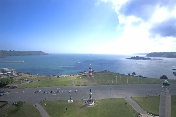 Views of Plymouth from the Plymouth Eye.