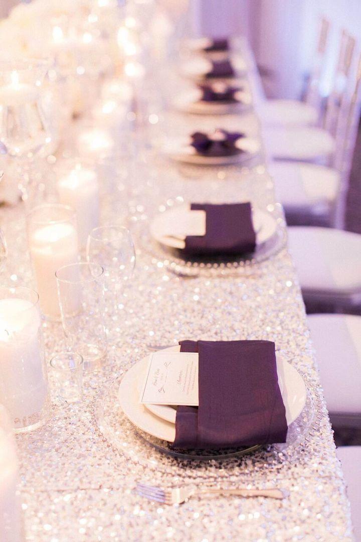 Shimmer Silver and Purple California Wedding - MODwedding