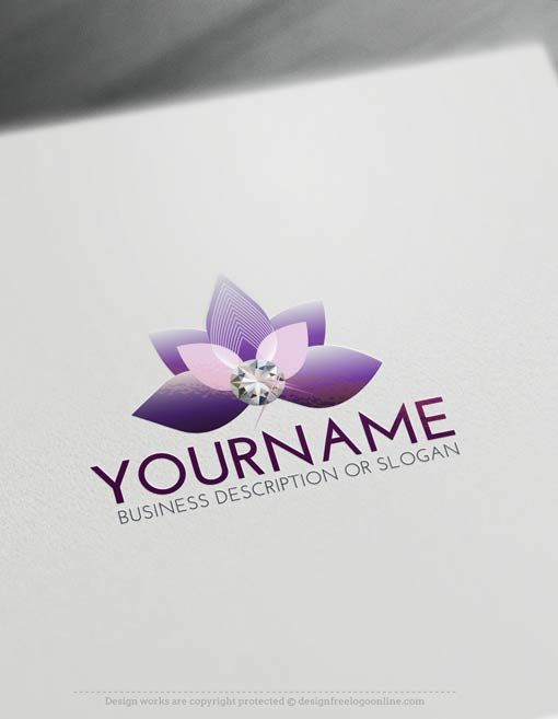 Free Logo Maker – Diamond Flower Logo Templates
