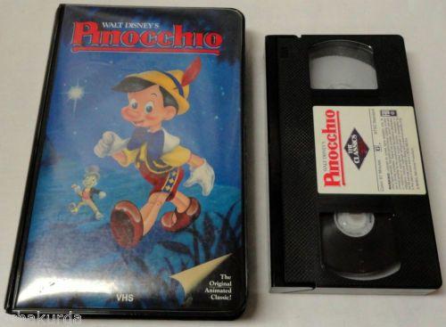 Pinocchio VHS Tape Walt Disney Animated Black Diamond