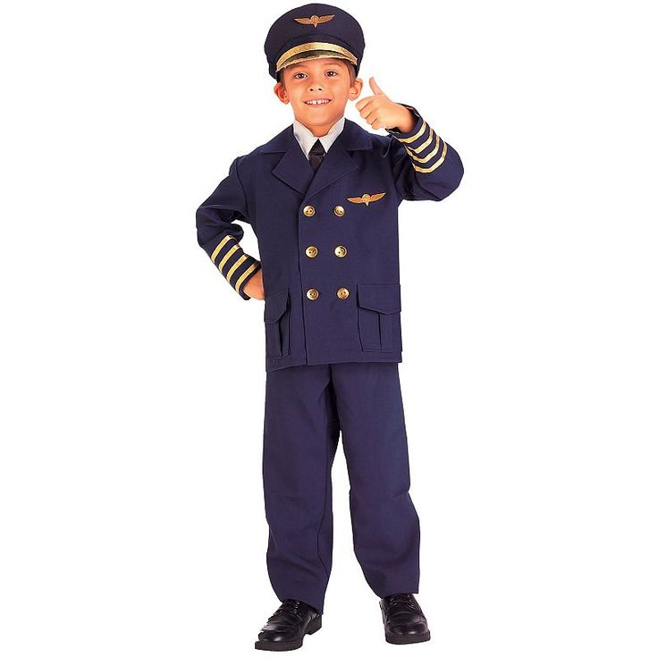 Airline Pilot Costume - Kids, Boy's, Size: Small, Multicolor
