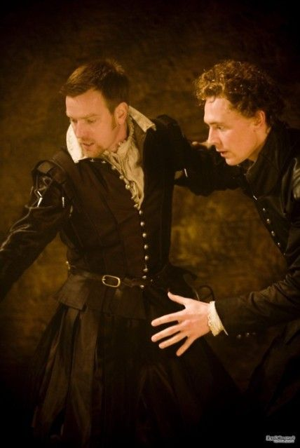 Tom Hiddleston as Cassio and Ewan Mcgregor as Iago in Michael Grandage's production of 'Othello' at the Donmar Warehouse, 2008.