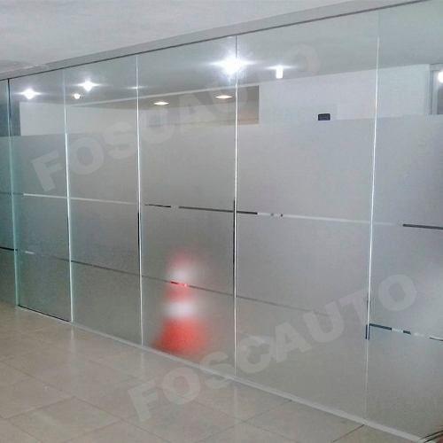 adesivo jateado para box banheiro, janelas, vidros, 1m x 1m