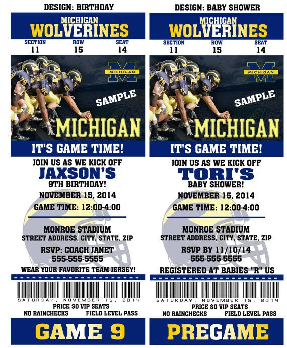 Printable Michigan Wolverines College Football by QtPieWrappers
