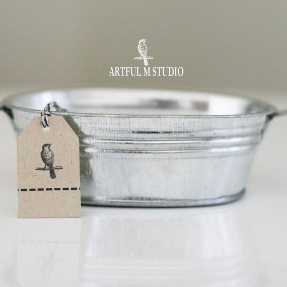 Galvanized Oval Tin Bucket Tub Pot Pail Container by ArtfulMstudio, $3.99
