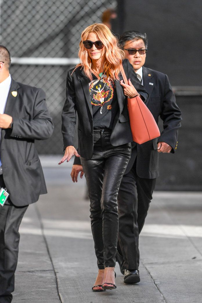 Julia Roberts Has Already Worn These Hot Leather Pants Twice This