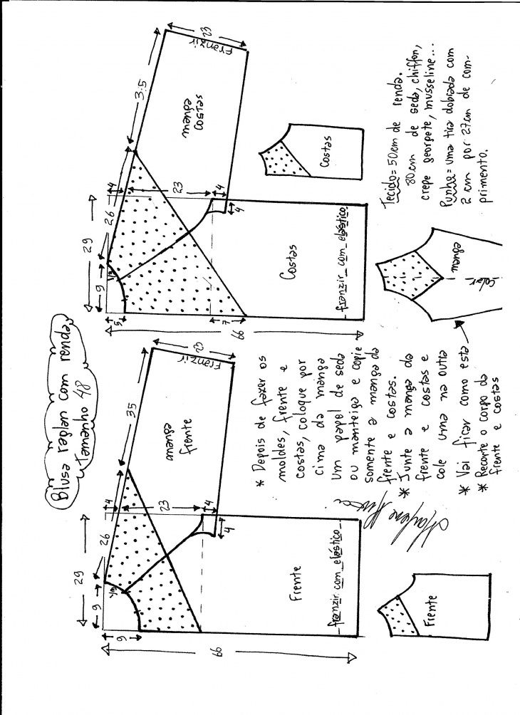 Блуза с кружевными плечами и кокеткой / Простые выкройки / ВТОРАЯ УЛИЦА
