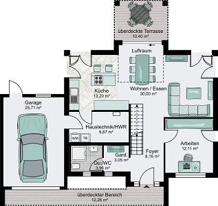 Haus bauen ideen grundriss einfamilienhaus  10 besten Häuser Bilder auf Pinterest | Haus grundrisse ...