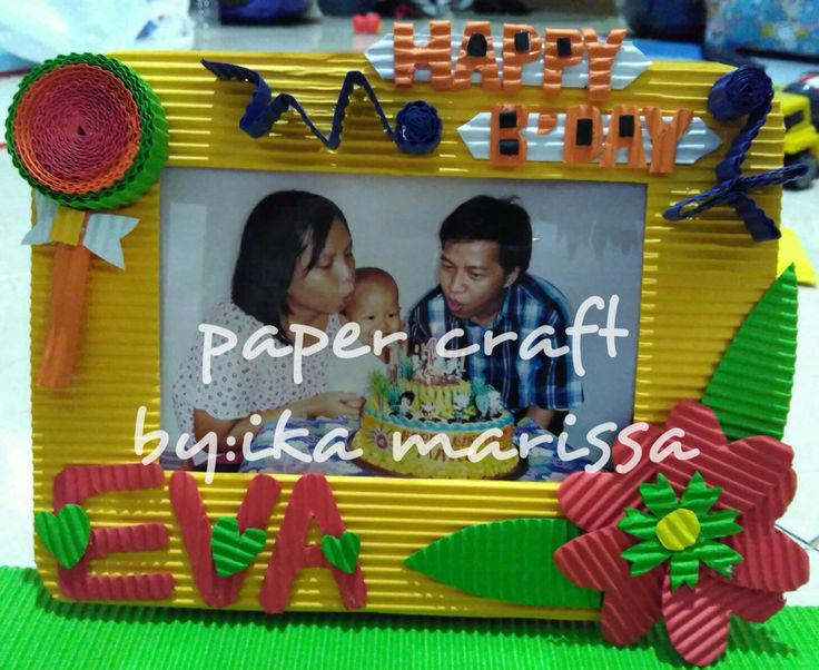 kokoru paper craft (photo frame)