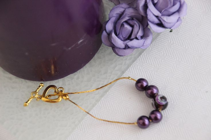Simply Plum delicate friendship bracelet by 4Dignity on Etsy