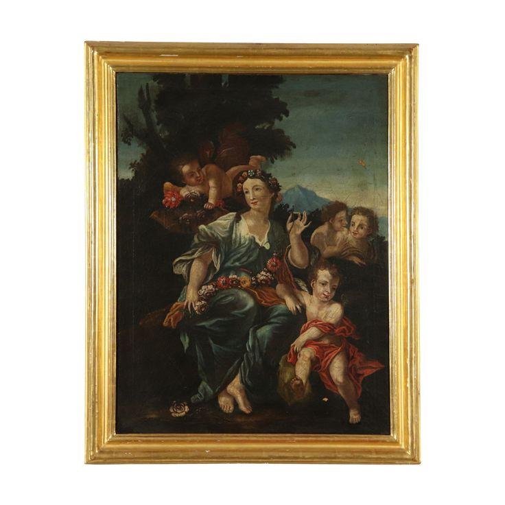Allegorie des Frühlings Ölgemälde 18. Jahrhundert