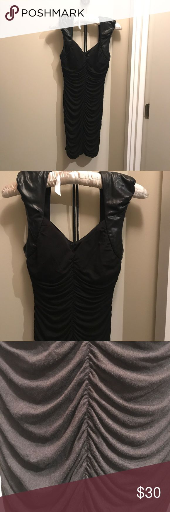 Tight Black Dress Metropark tight black dress, great condition, 95% rayon, 5% spandex, 100% polyester lining Metropark Dresses Mini
