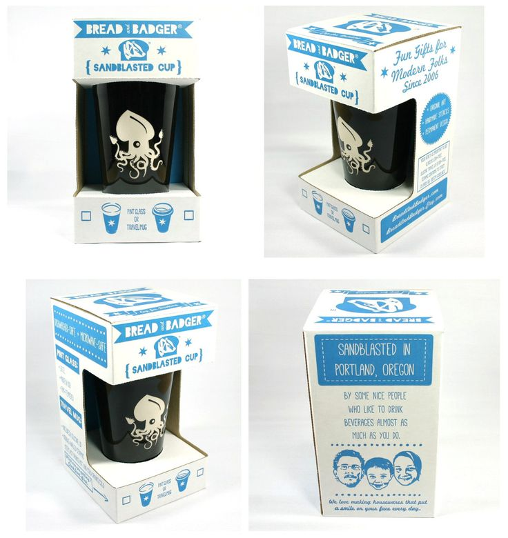 Ceramic travel mug packaging, by Bread and Badger