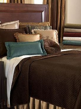 With colder weather on the horizon, turn your master suite into a plush and luxurious haven with the Lucerne Coverlet; a velvet collection boasting a wide array of colors to match any style.: Decorating Ideas, Master Suite, Lucerne Solid, Master Bedroom, Lucerne Coverlet, Velvet Bedding