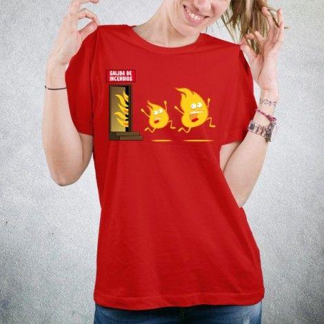 17 euros - Camiseta SALIDA DE INCENDIOS · Unisex