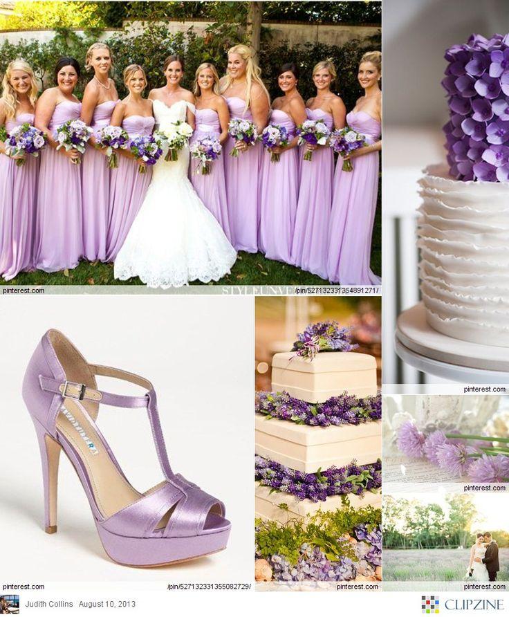 Lavender Weddings. I love the bridesmaid dresses!