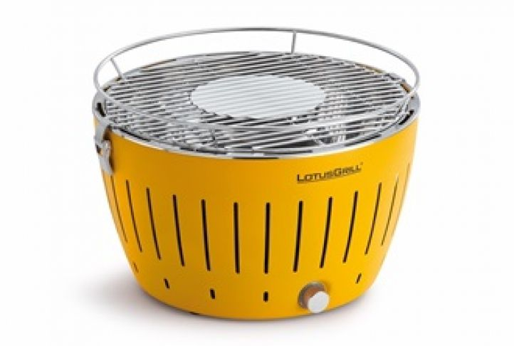 LOTUS GRILL BBQ in Corn Yellow with Free Lighter Gel