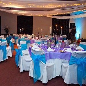 Blue And Purple Wedding Reception Decorations In Queanbeyan Nsw Real Weddings