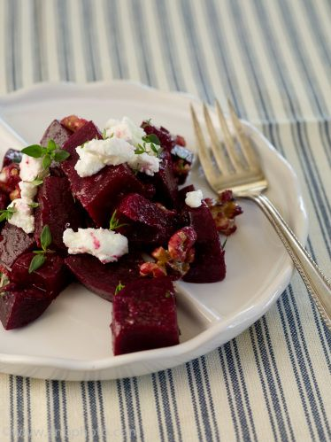 Beet Salad with Walnuts and Goat Cheese