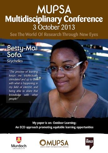 Meet Betty-Mai Sofa who is researching outdoor learning and presenting at the MUPSA Conference 2013