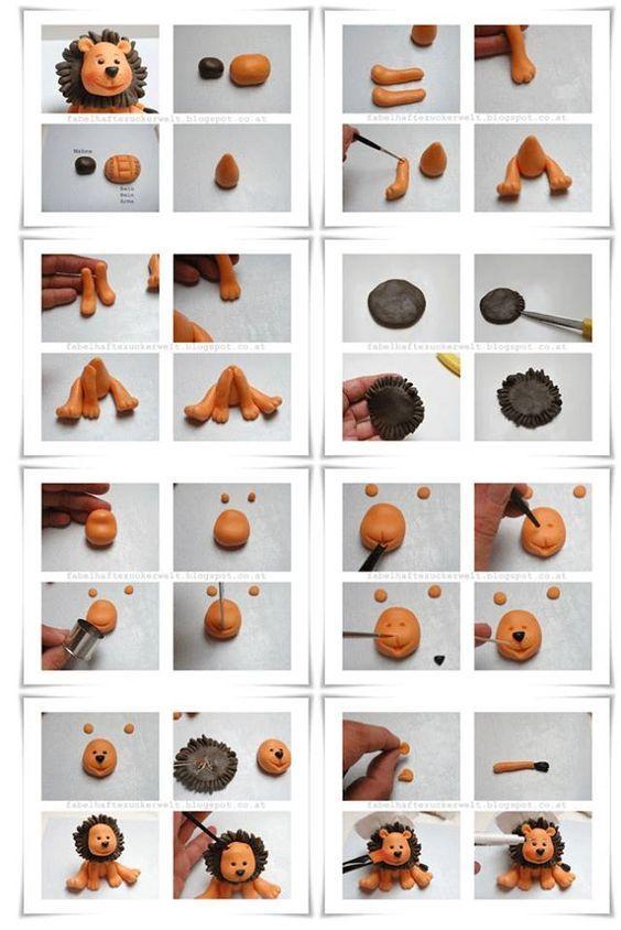 Polymer Clay Lion Tutorial: