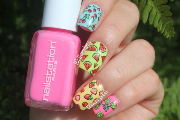 NOTD – Fruity summer nails