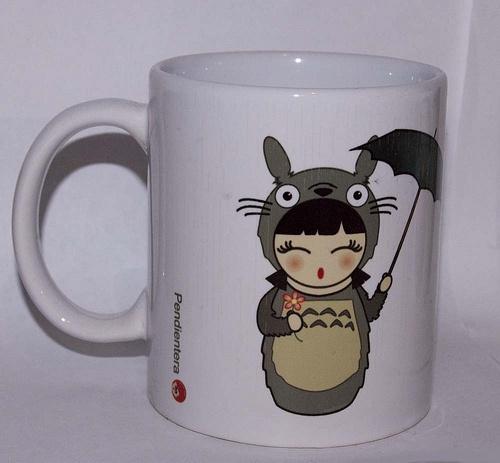 Taza kokeshi Totoro
