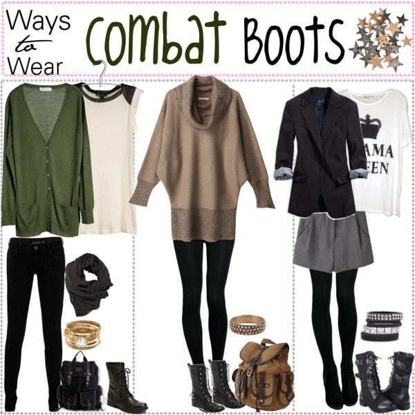 """Ways To Wear; Combat BOOTS*♥"" by xo-polytips ❤ liked on Polyvore"