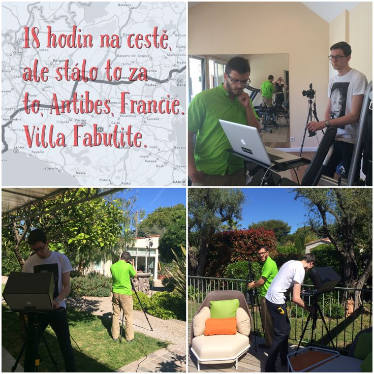 Behind the scenes Villa Fabulite France interior and exterior shooting.
