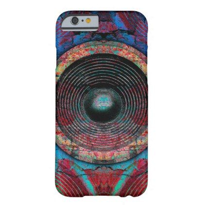 Red music speakers on a cracked wall barely there iPhone 6 case - red gifts color style cyo diy personalize unique