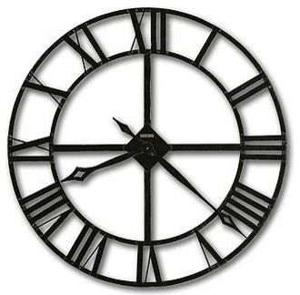 "Howard Miller Lacy 32"" Wrought Iron Wall Clock transitional-wall-clocks"