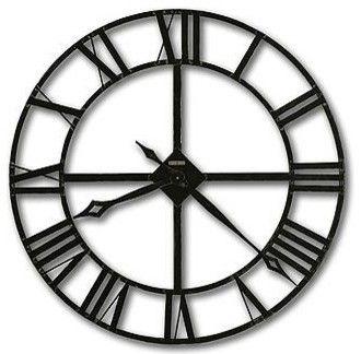 "Howard Miller Lacy 32"" Wrought Iron Wall Clock transitional-wall-clocks"