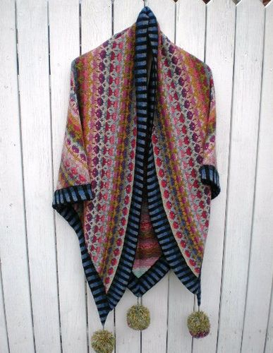 Mongolia Shawl by Christel Seyfarth on Ravelry. I LOVE it.