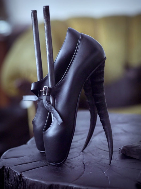 Goth Ballerina Shoes Fashion