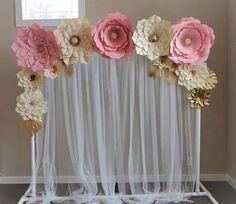 Resultado de imagem para painel floral para mesa de casamento